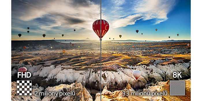 Dechberoucí rozlišení s 33 miliony pixelů