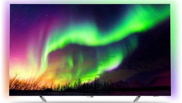 Televize Philips 65OLED873 stříbrná 55