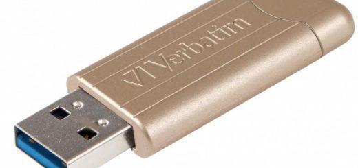 Verbatim Store 'n' Go PinStripe 64GB zlatý (48010) 2