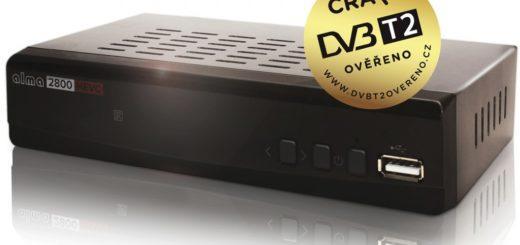 ALMA 2800 SE HD, DVB-T2 přijímač, H.265 (HEVC)